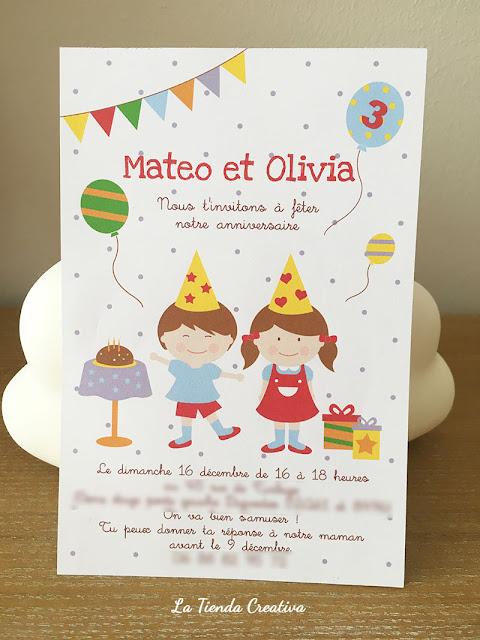 invitacion cumple personalizada niños