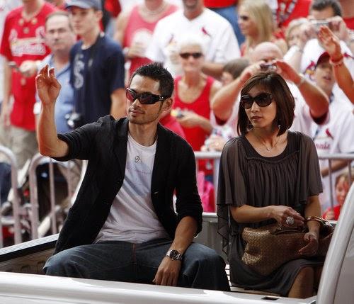 All Super Stars: Ichiro Suzuki With His Wife