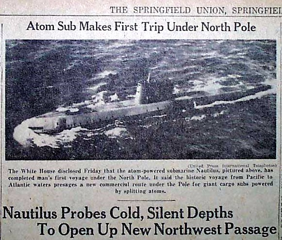 Image result for Nautilus first ran on nuclear power on January 17, 1955