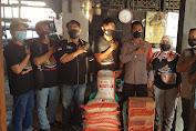 Polsek Tambelang Salurkan Sembako Bagi Dewan Kesenian Bekasi