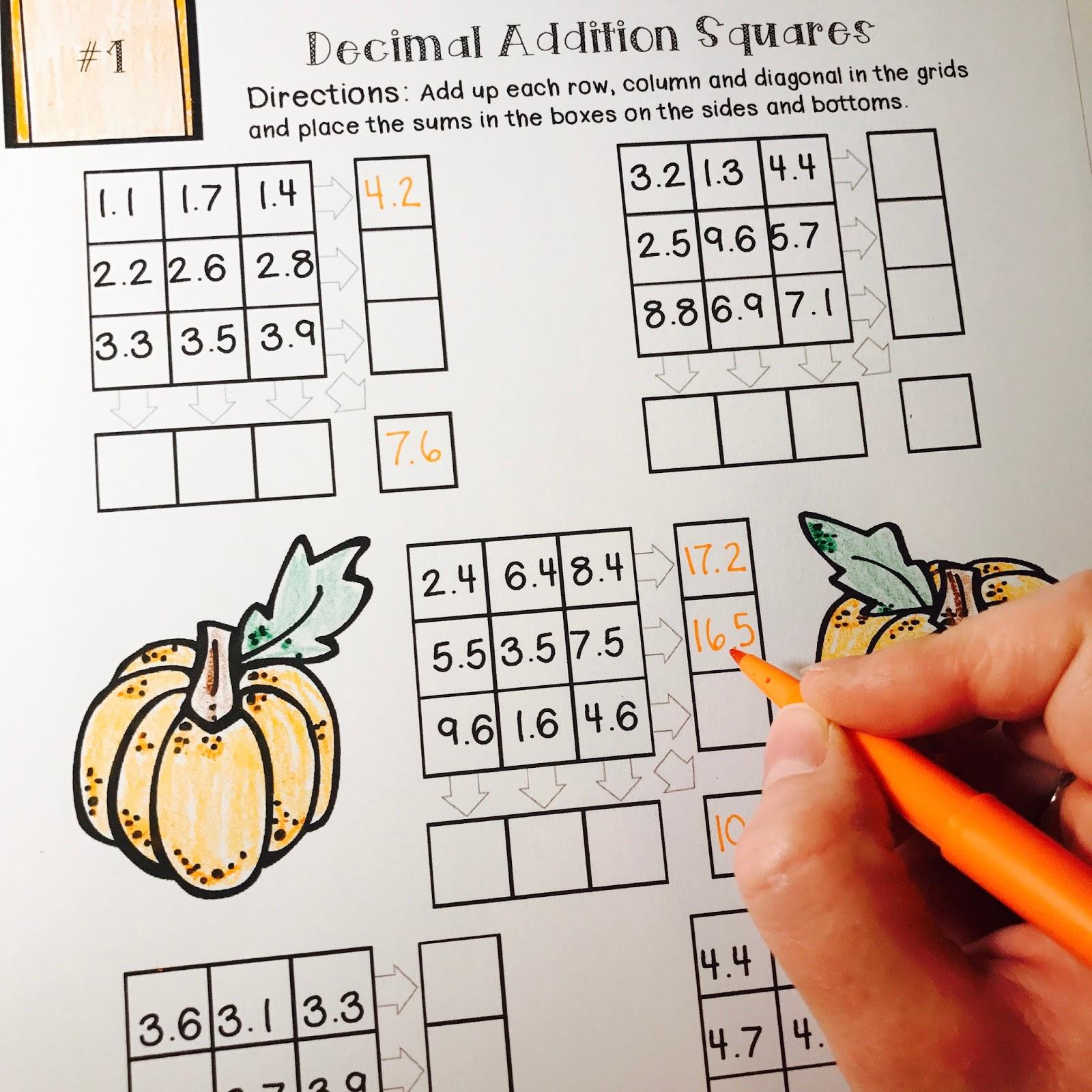 Kelly Mccown November No Prep Math Packet