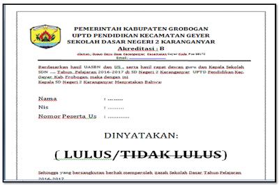 Contoh Surat Keterangan Lulustidak Lulus Untuk Sd Smp Sma Format