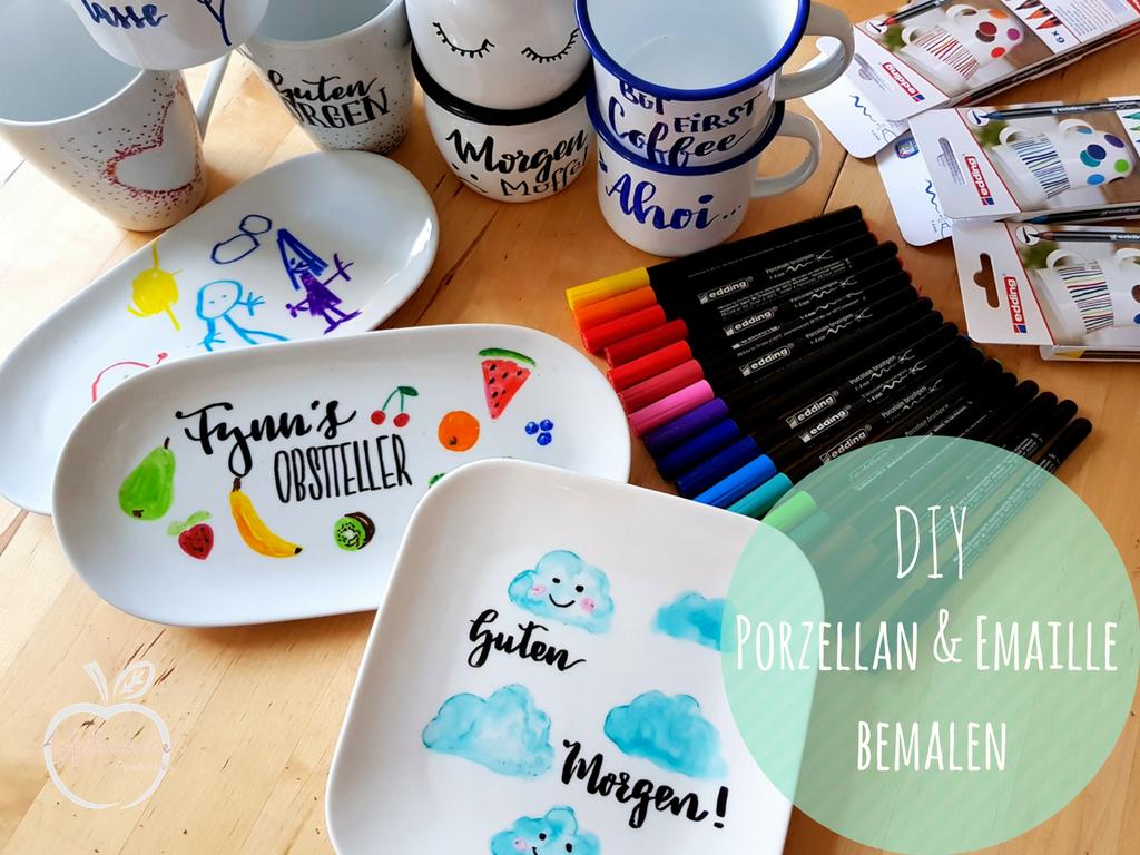 Diy Tipp Porzellan Und Emaille Bemalen Auch Mit Kindern Ein