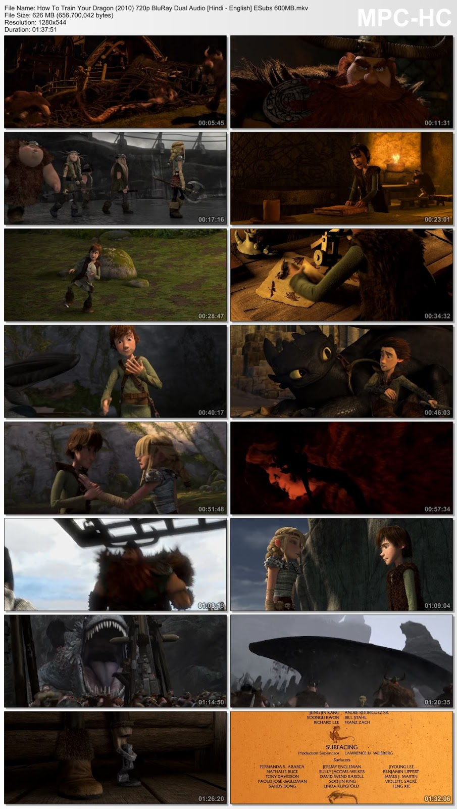 How To Train Your Dragon (2010) 720p BluRay Dual Audio [Hindi – English] ESubs 600MB Desirehub