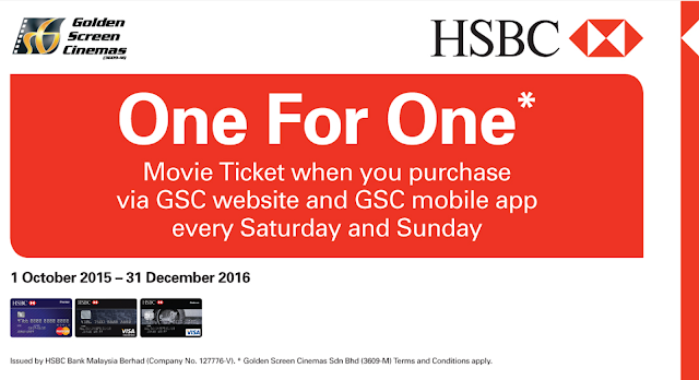 GSC Cinema Movie Ticket Discount Promo HSBC Card