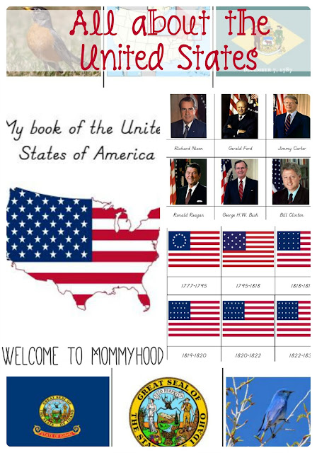 Montessori Inspired History of the USA printables #montessori