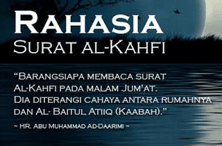 KEUTAMAAN MEMBACA SURAH AL-KAHFI DI MALAM JUM'AT DAN DIHARI JUM'AT