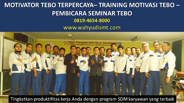 MOTIVATOR TEBO, TRAINING MOTIVASI TEBO, PEMBICARA SEMINAR TEBO, PELATIHAN SDM TEBO, TEAM BUILDING TEBO
