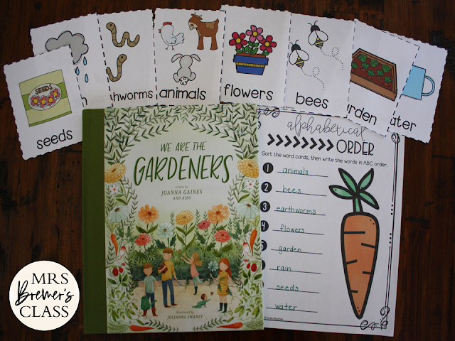 We Are the Gardeners book study companion literacy activities unit for K-1