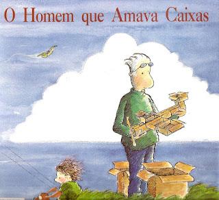 Livro o homem que amava caixas para o Dia dos pais