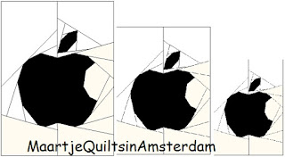 Quilting in Amsterdam: Apple logo