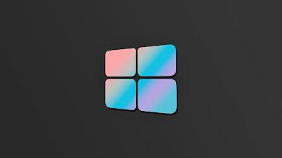 Wallpaper HD Windows 10 Gray logo