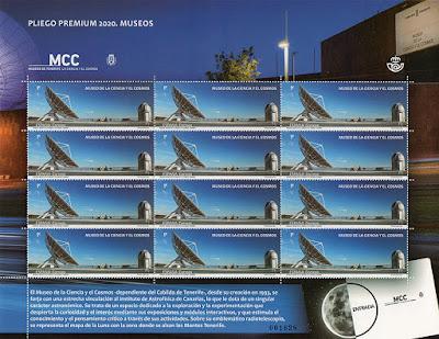 museo, sello, pliego premium, Ciencia, Cosmos, Tenerife