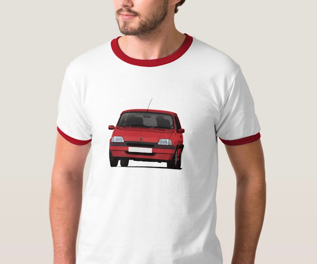 Red 90's cornering Rover Metro GTi - T-shirt