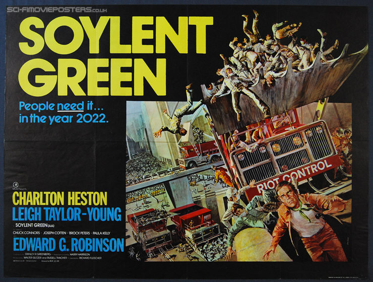 1970/'s Movie Posters Classic Cinema Soylent Green