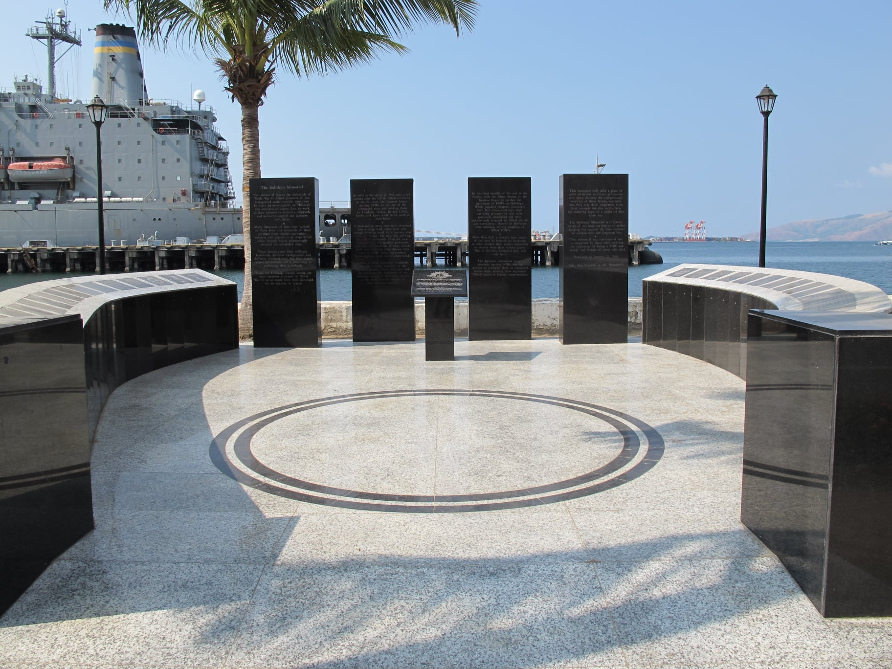 The Hell Ships Memorial in Subic, which honors the World War II Prisoners of War.