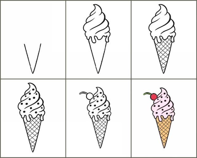 cara+menggambar+es+krim