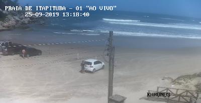 câmera ao vivo da praia de itapiruba laguna