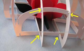 acetate sliceform paperweight