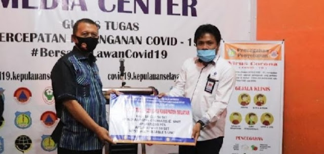 BLK Bantaeng Serahkan Bantuan APD ke Posko GTPP Covid-19 Kabupaten Kepulauan Selayar