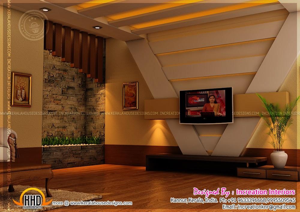 House interior design kannur kerala kerala home design for Modern living room in kerala