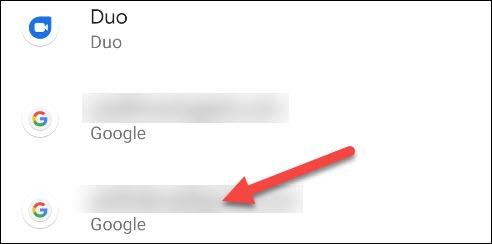 ابحث عن حساب google الافتراضي الخاص بك