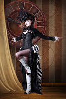 The Steampunk showgirl skirt is popular with steampunk burlesque dancers and cabaret dancers. It's based on a victorian era french cabaret skirt style.