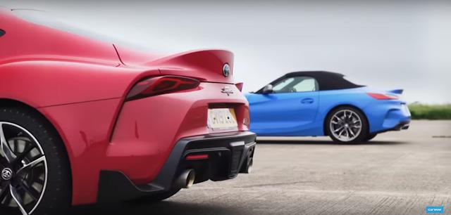 Toyota Supra vs BMW Z4 M Drag Race