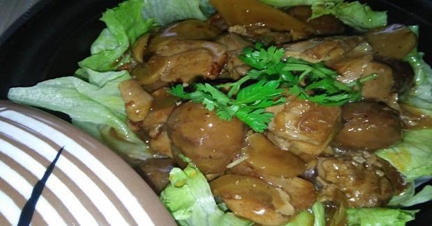 Stewed Chicken With Chestnuts Recipe