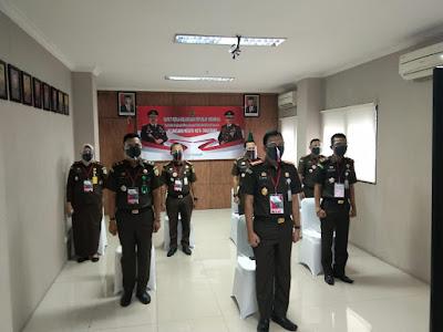 Kejaksaan Negri Kota Tangerang Mengikuti Rapat Kerja Kejari RI Tahun 2020 Secara Virtual