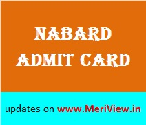 NABARD Officer Admit card