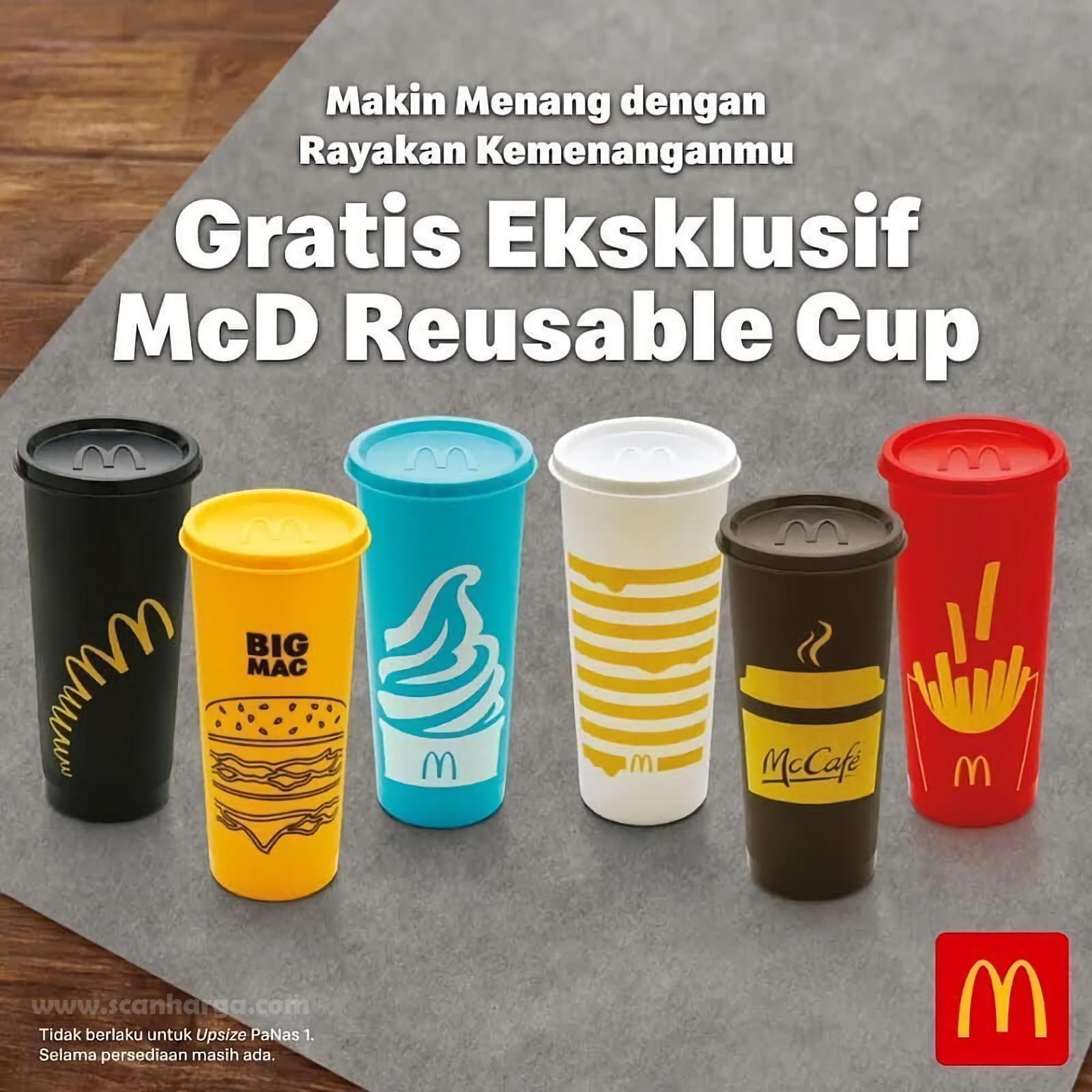 Promo McDonalds Terbaru Gratis Reusable Cup 1 September - 25 Oktober 2020