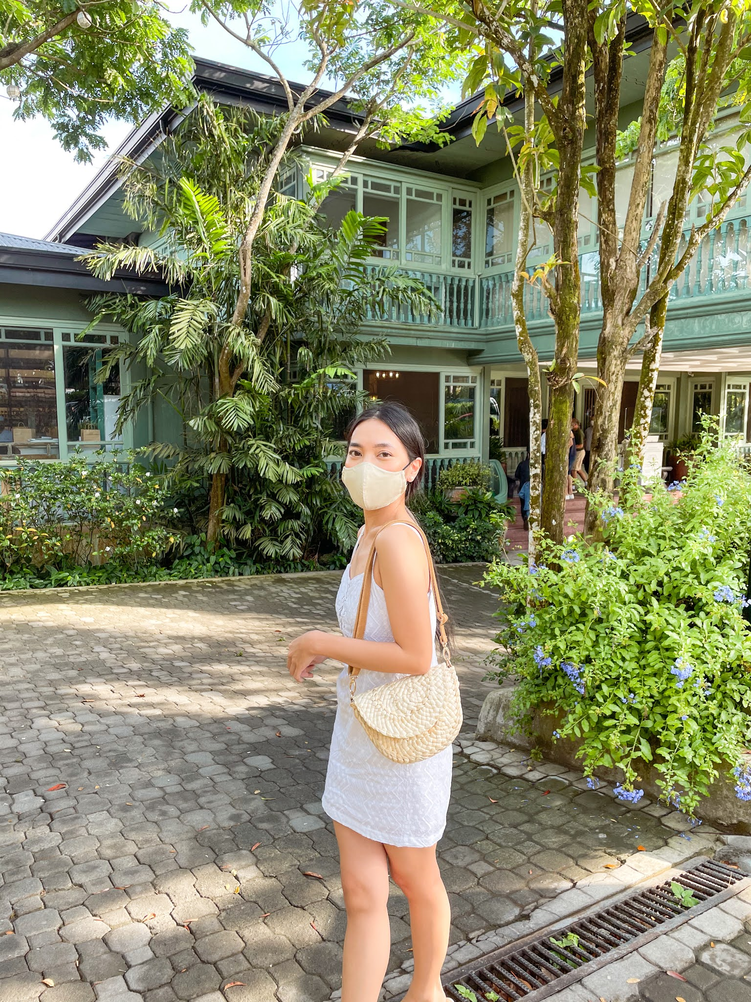 Cielo Fernando with Face Mask White Dress for Summer