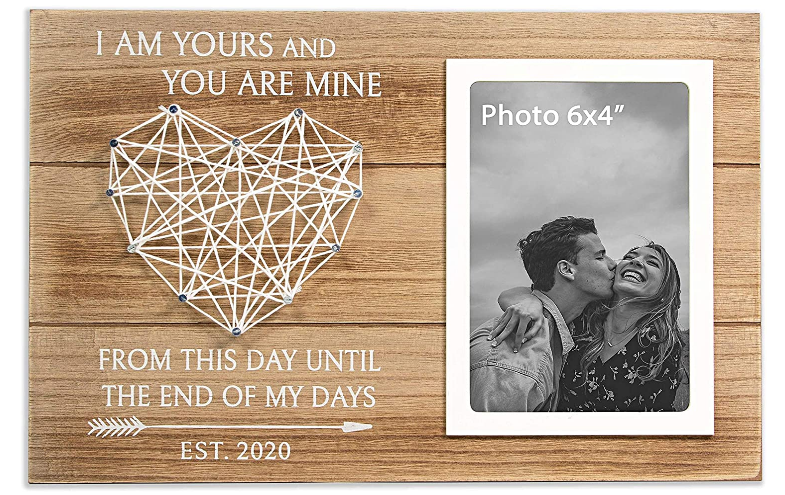 1st wedding anniversary picture frame