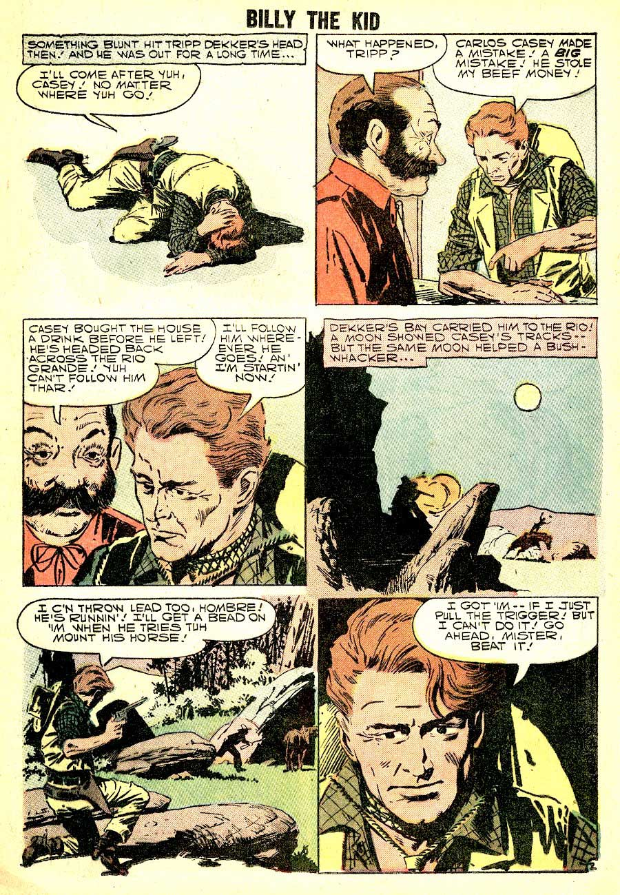 Billy the Kid #13 golden age 1950s western charlton comic book page art by Al Williamson