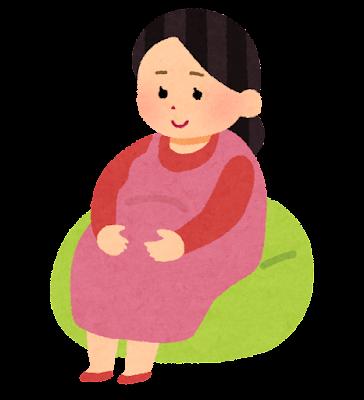 妊婦・妊娠のイラスト(赤ちゃん)