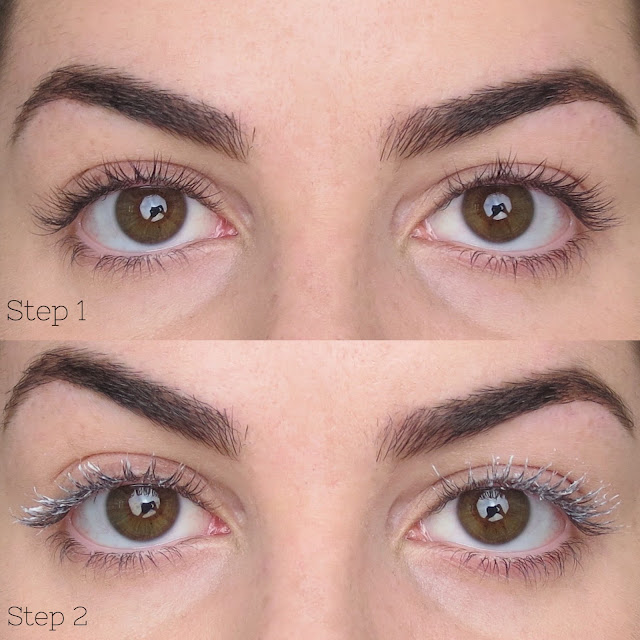 a picture of L'Oréal Voluminous Superstar Mascara (before & after)