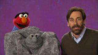 celebrity Jon Hamm talks about sculpture with Elmo. Sculpture is the word on the Street. Sesame Street Episode 4325 Porridge Art season 43