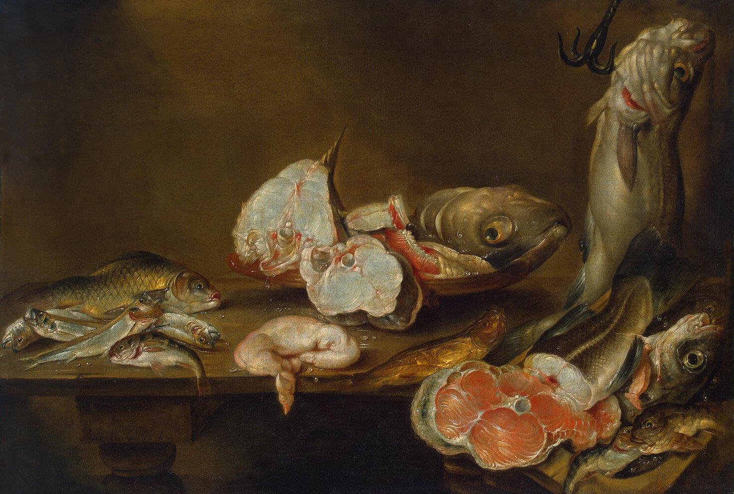 Fish piece alexander adriaenssen endless paintings for Piece of fish