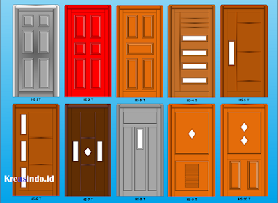 Jual atau Jasa Pembuatan Pintu Panel Besi Untuk Rumah Minimalis Model Terbaru dan Bergaransi