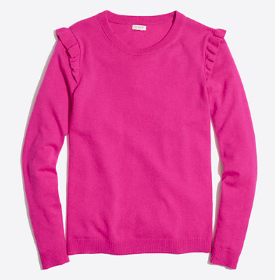 J Crew ruffle sweater