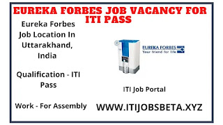 Jobs Vacancies In Eureka Forbes