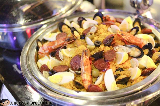 Classic Seafood Paella Spanish