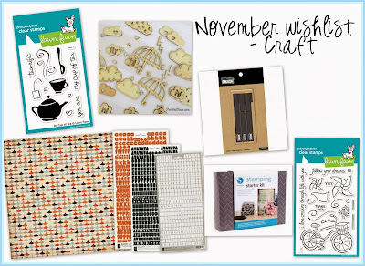 My November craft wishlist 2013