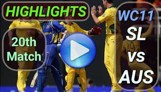 SL vs AUS 20th Match