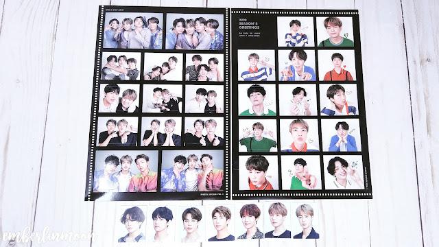 BTS 2020 Season Greetings - Sticker Sheet & ID Cards