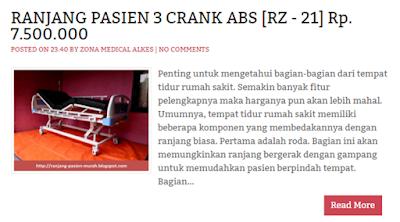 ranjang rumah sakit 3 engkol abs RZ-21