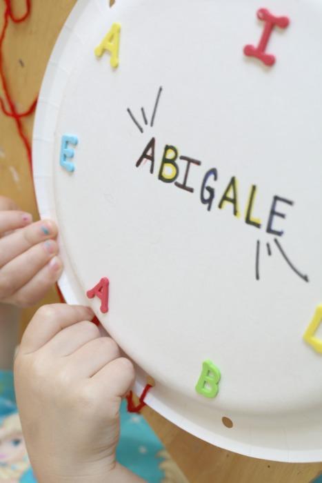 preschool name recognition idea