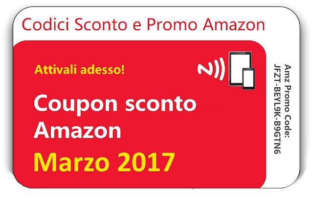 CODICI SCONTO AMAZON MARZO 2017