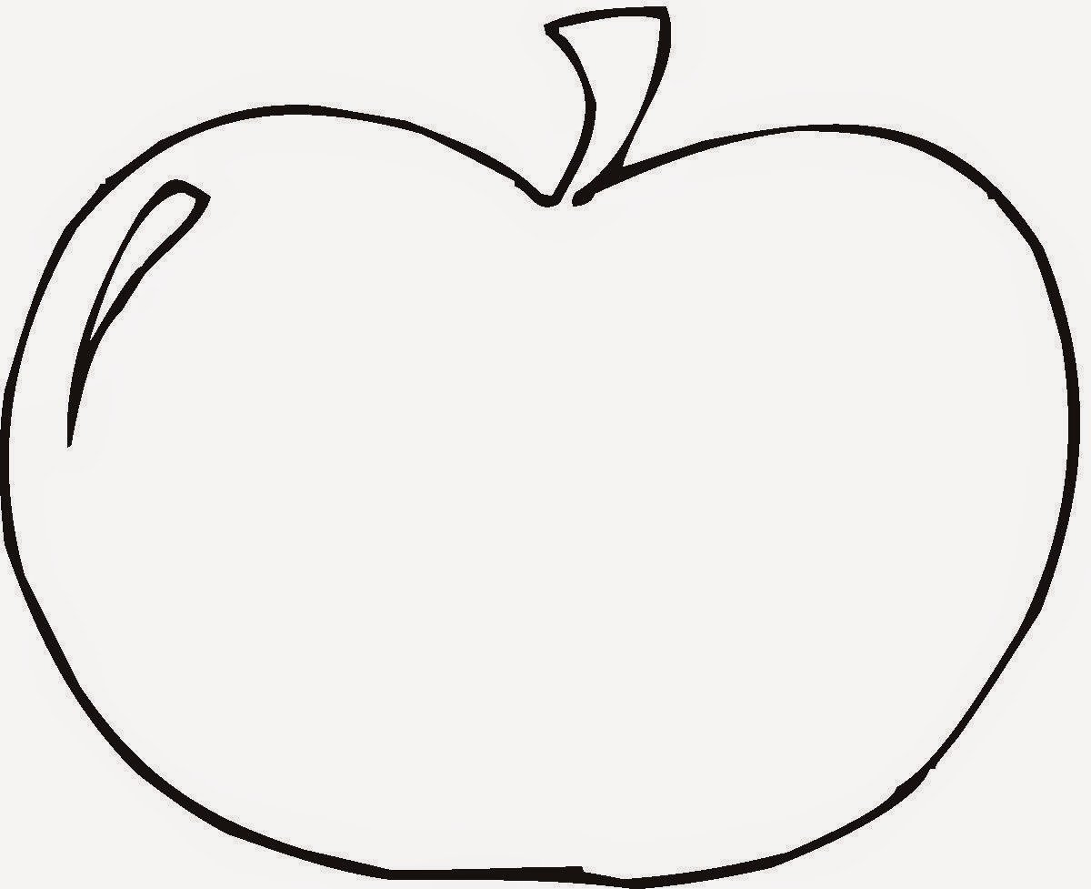 Halaman Mewarnai Gambar Buah Apel T